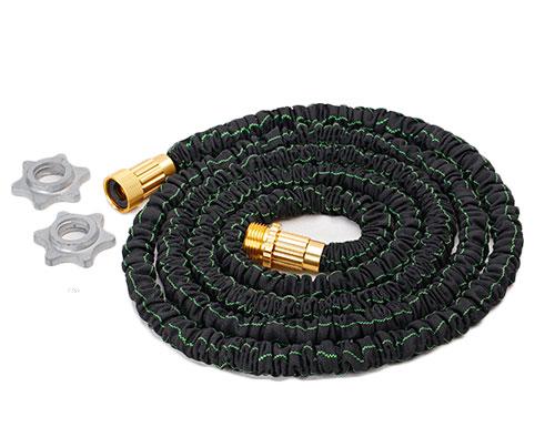 金属黑色接头伸缩水管
