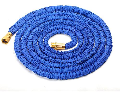 金属蓝色接头伸缩水管