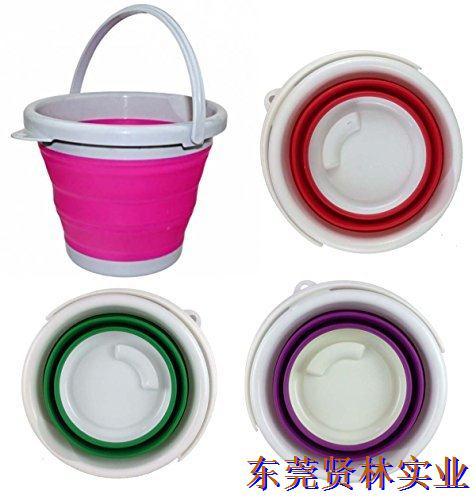 加厚折叠水桶硅胶ppe圆桶方桶便携钓鱼水桶饵料桶可洗车用