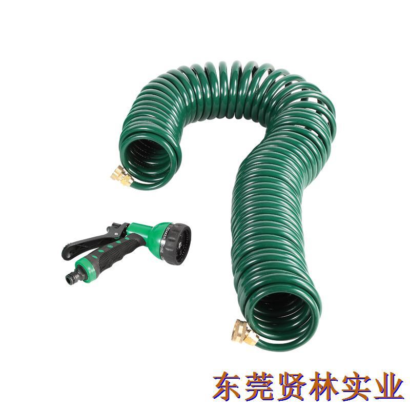 厂家直销园林浇花PU弹簧水管水枪