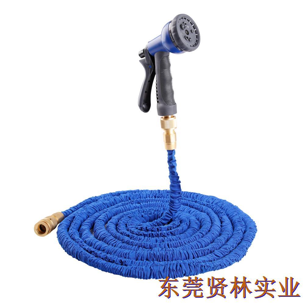最新款花园水管可伸缩水管   高强丝+黄铜快接 (欧标)